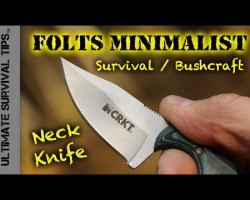 EDC Micro Neck Knife for Survival / Bushcraft / Hunting – CRKT Folts Minimalist Neck Knife -Best