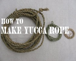 How To Make Yucca Rope