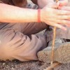 Primitive Fire Using the Hand Drill