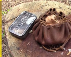 Wolfe Customs Leather Tinder Pouch | Living Survival