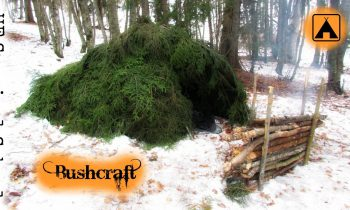NEW! How to make a Winter Survival Shelter – Mountain Hut – Solo Bushcraft / Survival Overnight