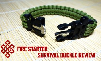 Fire Starter Survival Paracord Buckle Review / Overview
