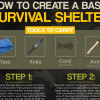 Great tips on how to create a basic survival shelter