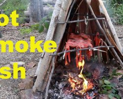How to Hot Smoke Fish- Primitive Style
