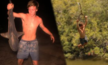 BULLSHARK Catch n Cook!!! – caught at popular Rope Swing!