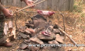 Foraging- Field Dressing Small Game Pt 3-Primitive Cooking