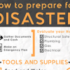 How to prepare for disaster