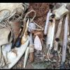 My Stone-Age tool kit: Stone tools, bow drill, and assorted kit