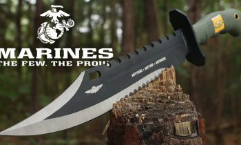 Anything, Anytime, Anywhere Marine Recon Bowie Knife & Sheath